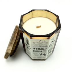 bold #1 whiskey candle